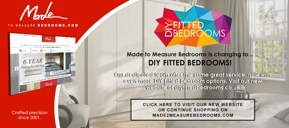DIY fitted bedrooms from Made to Measure with delivery in 10 to 20 working days.